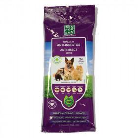 Menforsan Toallitas Anti Insectos para Mascotas
