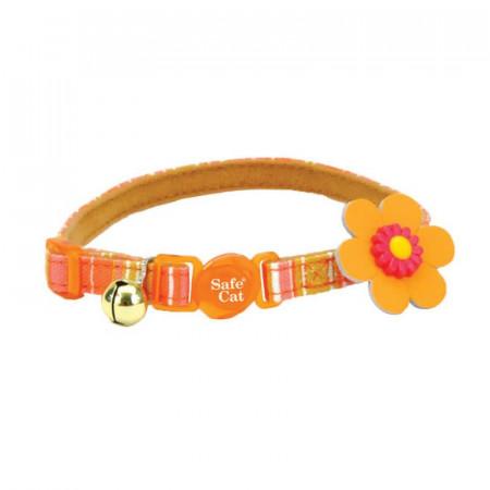 Coastal Collar Embellished Flower Orange