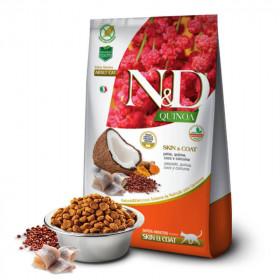 N&D Quinoa Feline Skin & Coat Pescado