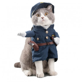 Disfraz de Policia para Gatos