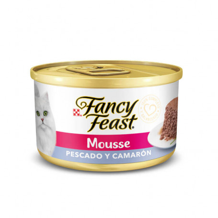Purina Fancy Feast Mousse Pez Camarón
