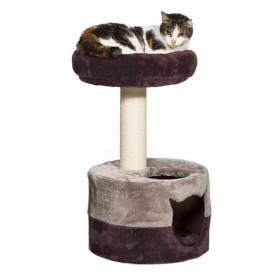 Rascador Morado con Guarida para Gatos