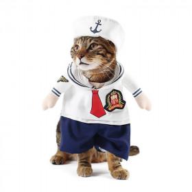 Disfraz de Marinero para Gatos