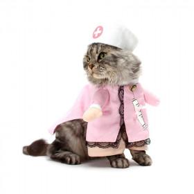 Disfraz de Enfermera para Gatos