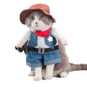 Disfraz de Vaquero para Gatos